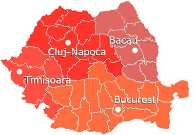 harta Romania 2